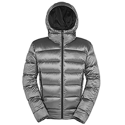 down jacket Doudoune Hommes_Poids LéGer Encapuchonné Manteau en Duvet d'oie Emballable Sac Veste Chaude Convient pour Les Sports De Plein Air, Les Voyages, Le Camping en Hiver XL 2XL