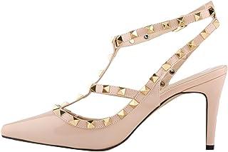 esMulticolor Tacón De Para Amazon Mujer Zapatos 53R4LAj