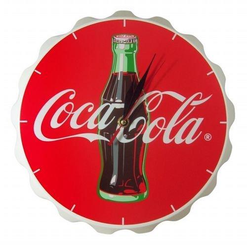 Coca-Cola Wood Contour Bottle Crown Clock–6404–43
