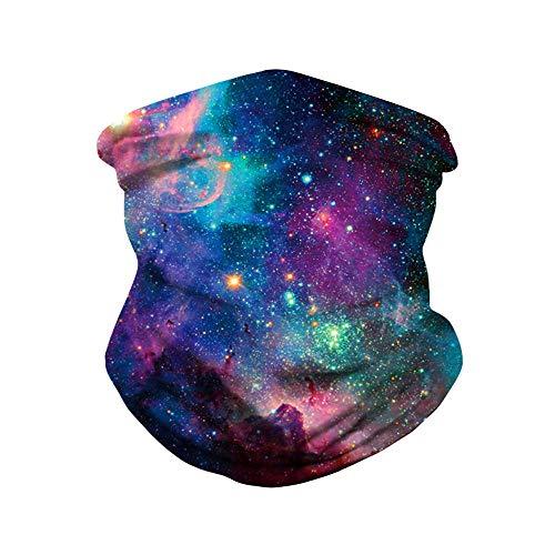 Gorro de equitación multifuncional, turbante mágico para máscara de equitación exterior, estampado digital cielo estrellado, muñeca con tirantes