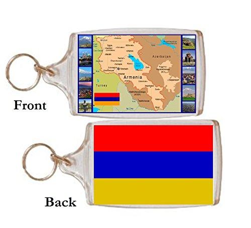 Schlüsselring Armenien Landkarte Geschenk Tourist Souvenir