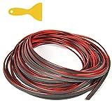 NA Tiras de moldura para interior de coche, 10 m, color rojo, decoración universal, borde flexible, con herramienta de instalación, accesorio para decoración de coche, accesorio de decoración