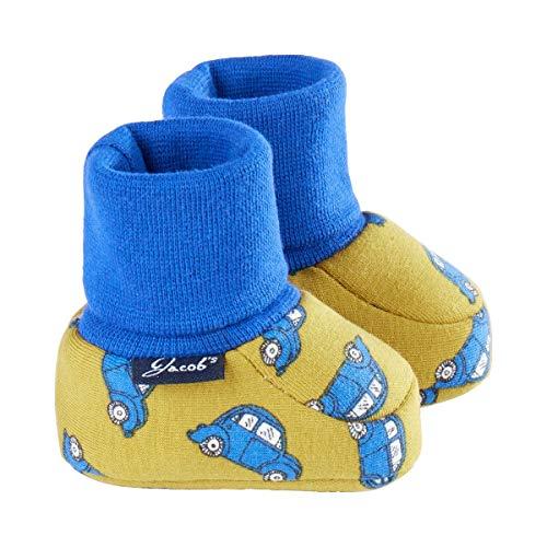 Jacob`s Chaussures bébé à enfiler chaussures bébé, voitures jaune moutarde/bleu
