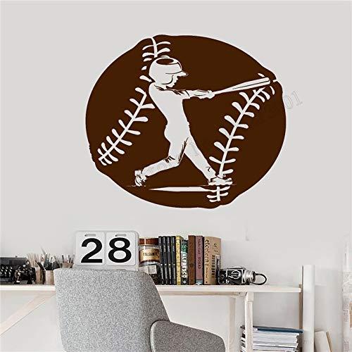 zqyjhkou Wandkunst Aufkleber American Game Sport Raumdekoration Baseball Player Poster Vinyl Removeable Wandbild Moderne Ornament 42x49 cm