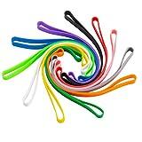Lot de 11 bandes élastiques en silicone de 17 cm - Larges bandes élastiques multicolores pour livres, pièges à crabe - Pour la cuisine, le sport, l'école
