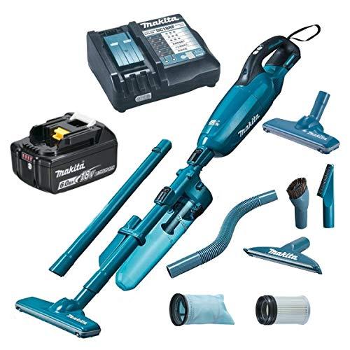 マキタ6.0Ah充電式クリーナー コードレス掃除機18V CL281FDZ本体カラー青+リチウムイオンバッテリー 6.0Ah BL1860B+マキタ純正充電器+ロック付サイクロンアタッチメントA-70063青+純正アタッチメントと消耗品 CL281FDRF