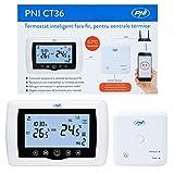 Thermostat intelligent PNI CT36 sans fil, avec WiFi, contrôle Internet, pour centrales thermiques, APP TuyaSmart