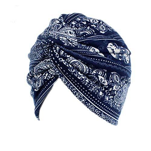 TININNA Cappello da Turbante in Cotone da Donna Bandana Berretto Hijab Foulard Copricapo Musulmano Turbante per chemioterapia