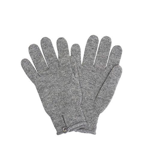 [ジョンストンズ] JOHNSTONS 手袋 グローブ Cashmere Knitted Button Loop Glove カシミヤニットボタンループ LIGHT GREY [並行輸入品]