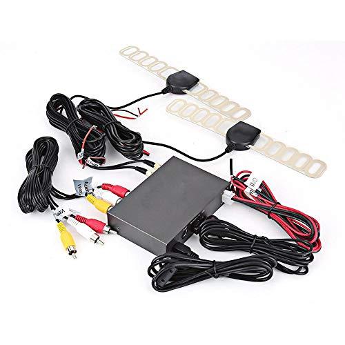 Caja de TV Digital para Coche, 1080P HD DVB-T2 Caja de TV Digital móvil para Coche Receptor 2 sintonizadores de Antena Control Remoto