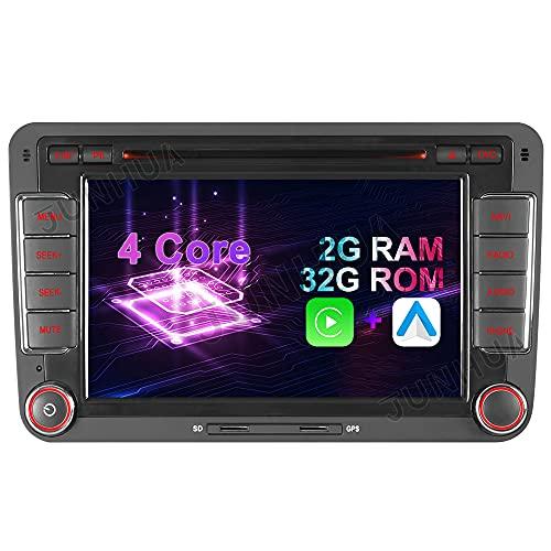 "7\"" 2-Tuner Android 10.0 DVD GPS 2+32GB Android Auto+Carplay BT 5.0 DSP Autoradio Navigation für VW Passat B6 Golf V VI 5 6 Touran Tiguan Multivan T5 Transporter Polo Caddy Skoda Seat WiFi 4G OBD2"