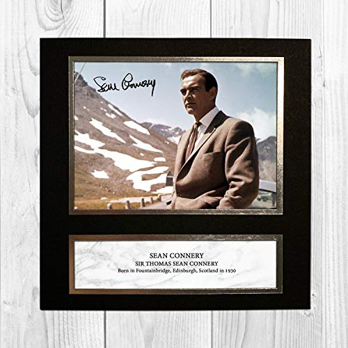Sean Connery - 007 - James Bond - Goldfinger 4 NDW Signed Reproduction Autographed Wall Art - 10 Inch x 10 Inch Print (Card Mounted)