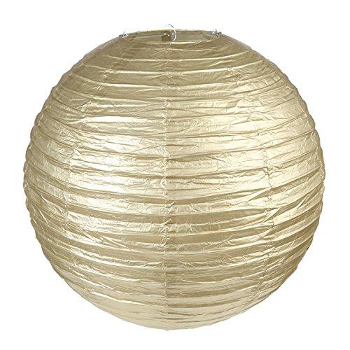 Sachsen Versand 2 Gold Stück Papier-Lampion-Laterne-Rund 20 cm Lampenschirm Feste Hochtzeit Party Geburtstag Dekoration Deco