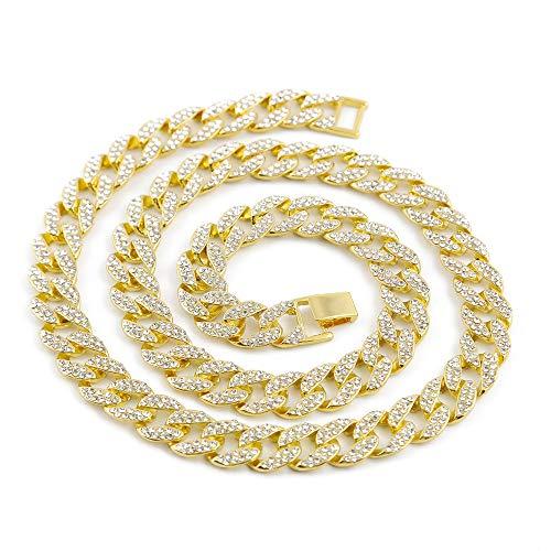 Material: el collar de diamantes está hecho de aleación y diamantes de imitación AAA que son materiales fuertes, resistentes a la corrosión y de baja alergia. Tamaño: El collar tiene muchos tamaños de cadena para su elección. El diseño de la cadena s...
