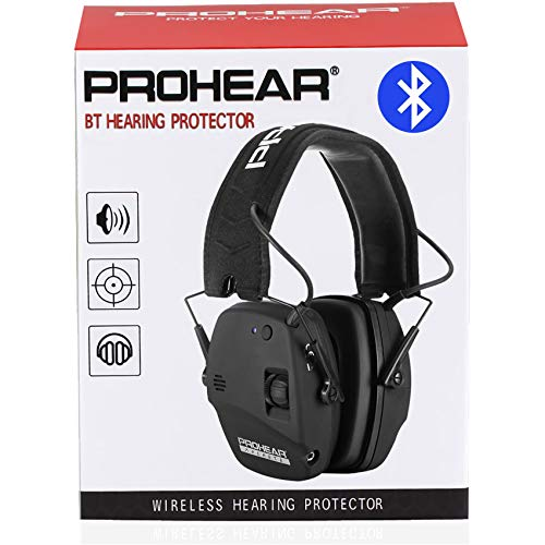 PROHEAR 030 Electronic Shooting Ear Protection Earmuffs with Bluetooth, Noise Reduction Sound...