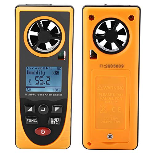 Pantalla LCD Medidor de escala de velocidad de viento de aire estándar Anemómetro digital profesional con velocidad de viento de 0,7 a 100 pies/s para probar flujo de aire velocidad viento frío