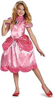 (Small/4-6x) - Disguise Nintendo Super Mario Brothers Princess Peach Classic Girls Costume, Small/4-6x