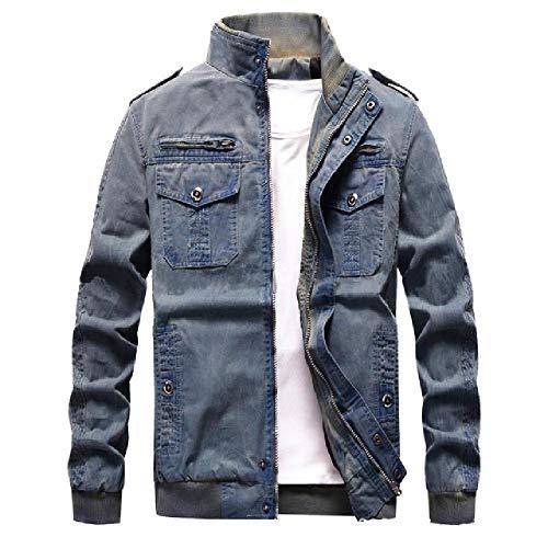 chaqueta de herramientas retro del ejército del viento chaqueta casual chaqueta de mezclilla de los hombres