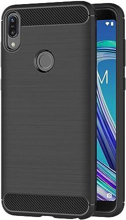 AICEK Cover ASUS Zenfone Max PRO (M1) ZB601KL, Nero Custodia ASUS Zenfone Max PRO (M1) Silicone Molle Black Cover per Zenfone Max PRO (M1) Soft TPU Case (5.99 Pollici)