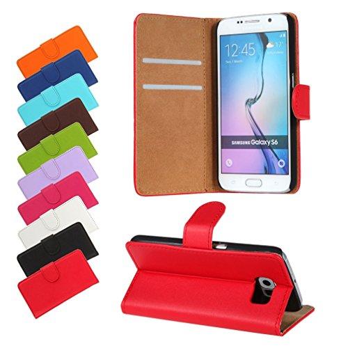 BRALEXX Huawei P9 Lite 2016 / P9 Lite 2016 Dual SIM Bookstyle-Tasche Hülle Hülle Schutz ROT (zum Aufstellen, 2x Kartenfach, 1x Geldfach, Silikon-R&umschutz-Innenschale)