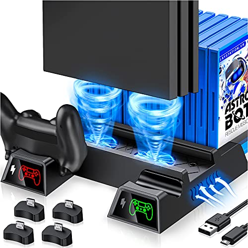 Kawaye PS4 Stand Cooling Fan for PS4 Slim/ PS4...