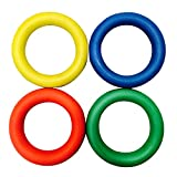 Sponge Rubber Quoits Hoop Colored Rings set of 4 Traditional Fun Play Throw Game by Carta Sport