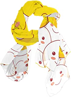ANINILY Scarfs for Women Lightweight Painted Yellow Smiley Face Print Shawl Head Wraps
