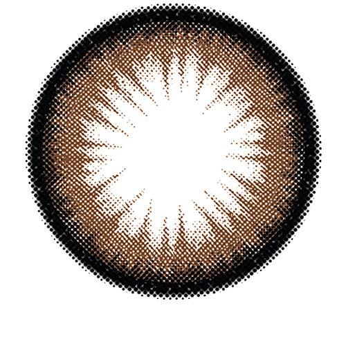 Matlens - GEOLICA Farbige Kontaktlinsen mit Stärke braun GEO Royal Princess Mimi Big eyes XMM-204 circle lens 2 Linsen 1 Kontaktlinsenbehälter 1 Pflegemittel 50ml