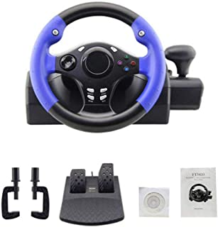 Driving Force Game Racing Wheel with Responsive Pedals Bundle, Game Steering Wheel Gaming Controllers for PS4/PS3/PC/XBOX-1/XBOX-360/Switch/Android