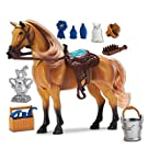 Sunny Days Entertainment Blue Ribbon Champions Deluxe Toy Horses: Quarter Horse with Articulation, Sound & Grooming Accessories (101844)