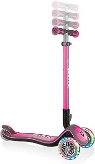 Sk8teforyou Unisex Jeugd Globber Elite Lights Deluxe kinderfiets, roze, 1 maat