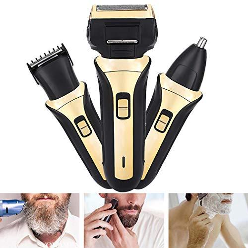 Sivane Maquinilla de afeitar eléctrica de doble cabeza y cabezales alternativos para hombres Limpieza
