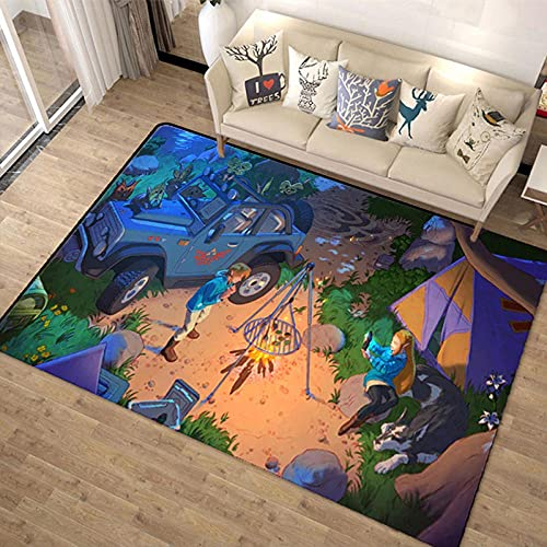 HoodieBBQ Anime The Legend of Zelda Alfombras, Alfombra de Felpa de Pelo Corto, Alfombra de Piso para niños de guardería, Almohadilla Antideslizante para el hogar 120X160CM-A_40x60cm