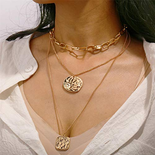 CXWK Gargantilla de Mariposa Bohemia Linda para Mujer, Collar Llamativo de Estilo Callejero, Collar con Letras Doradas, joyería