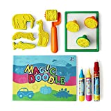 13Pcs Water Doodle Replacement Pens,Aqua Drawing Doodle Tool with Brush,Pen,Stencils and Learn To Draw Books for Doodle Mat Water Book