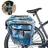 Sunshine smile Bolsas Bicicletas traseras,Bolsa Doble Bicicleta,alforjas Bicicleta Impermeable,Pannier Bag,alforjas Bicicleta montaña (A)