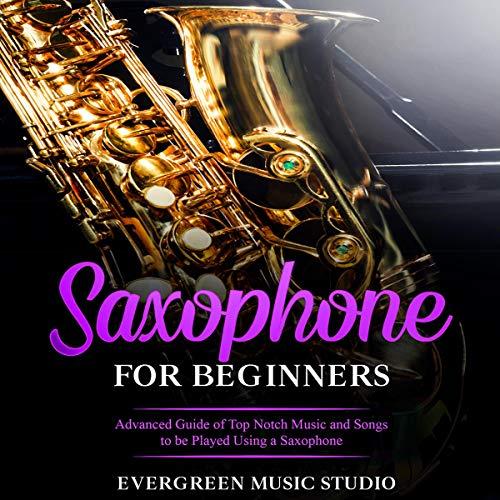 Diseño de la portada del título Saxophone for Beginners