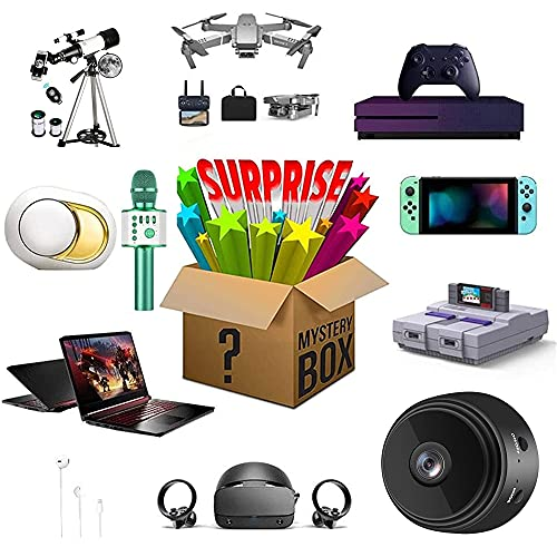 Mystery Box Electronics, Lucky Box Mystery Blind Box, Caja Sorpresa De Cumpleaños, Super Costo Efectivo, Estilo Aleatorio, Primero En Llegar, Regálate Una Sorpresa O como Un Regalo para Los Demás (B)