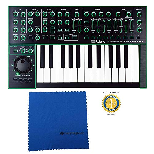 Great Deal! Roland System-1 25-key Plug-Out Synthesizer Keyboard with Microfiber and Free Everything...