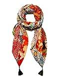 Desigual Foul_indiafan Bufanda de moda, Orange, U para Mujer