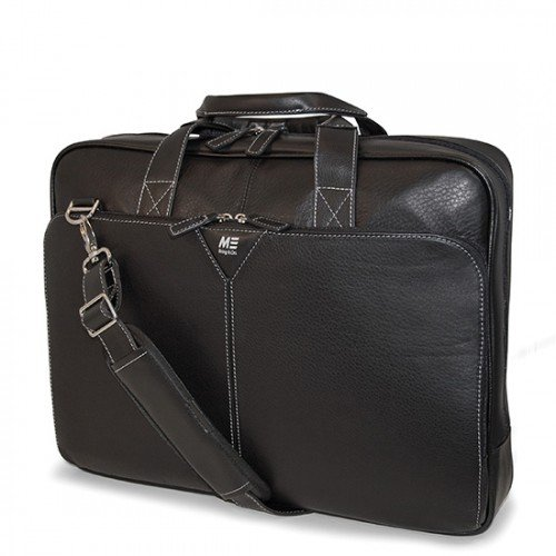 Mobile Edge MEBCL1 Deluxe Leather Briefcase- 16-Inch PC/17-Inch MacBook Pro