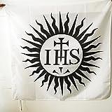 AZ FLAG Flagge JESUITEN 90x90cm - ERKENNUNGSZEICHEN Orden Gesellschaft JESU Fahne 90 x 90 cm Scheide für Mast - flaggen Top Qualität