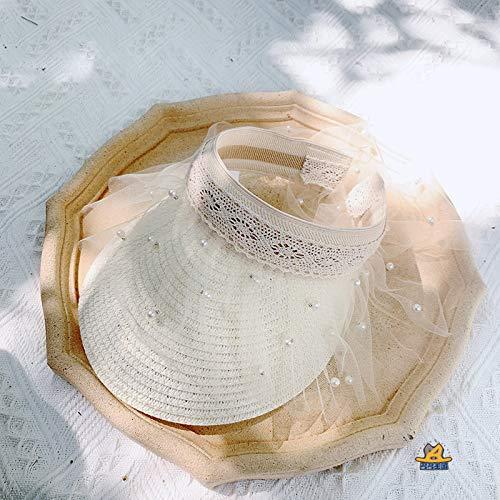 Sommer Kinder Monochrome Spitze Leer Oben Strohhut Baby Sonnenschutz Sonnenhut Kinderhut