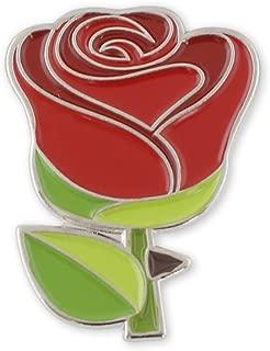 Red Rose Emoji Flower Romance Valentine's Day Enamel Lapel Pin