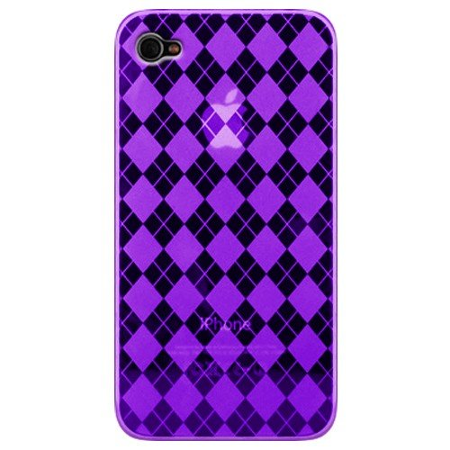 Katinkas Soft Case voor Apple iPhone 4 Checker paars