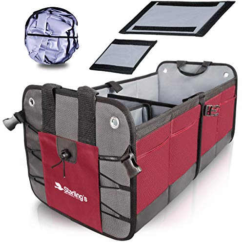 Starling's Car Trunk Organizer - Durable Storage SUV Cargo Organizer Adjustable, Bordeaux