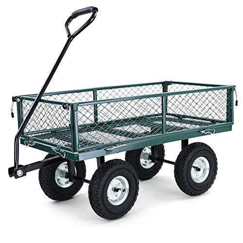 RAMROXX 38288 Transport Gitterwagen Handwagen Bollerwagen Seitenteile klappbar bis 300kg Grün