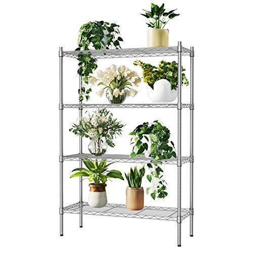 Auslar Lagerregal Metall Regalsystem 4 Regalböden bis zu 159 kg pro Metallböden 91 x 35,5 x 137,5 cm Küchenregal Regal für Küche Büro Garage usw.