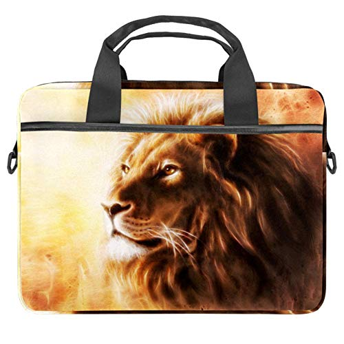 AIRBRUSH Painting of A Lion Head Laptop Hülle Leinwand Muster Aktentasche Sleeve Laptop Schulter Messenger Bag Sleeve für Apple MacBook Laptop Aktentasche
