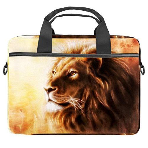 AIRBRUSH Painting of A Lion Head Laptop Hülle Leinwand Muster Aktentasche Sleeve Laptop Schulter Messenger Bag Sleeve für Apple MacBook Laptop Aktentasche